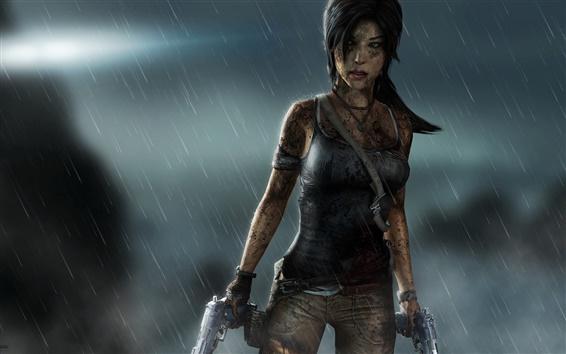 Fondos de pantalla Tomb Raider, Lara Croft, la noche lluviosa