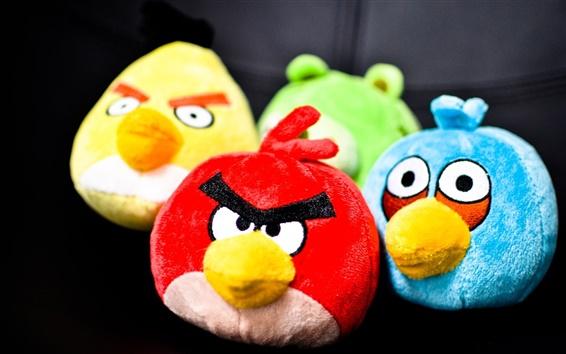 Wallpaper Angry Birds, cartoon toys