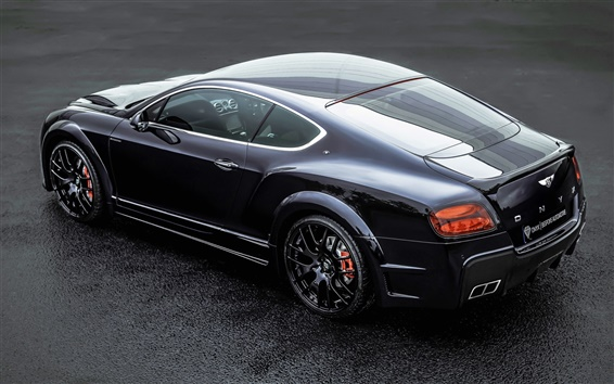Wallpaper Bentley Continental GT ONYX black car back view