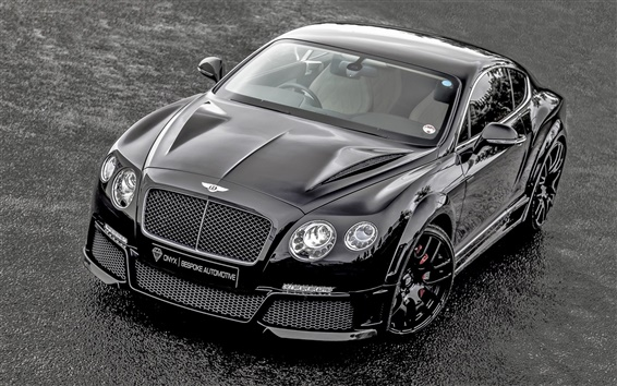 Wallpaper Bentley Continental GT ONYX supercar front view