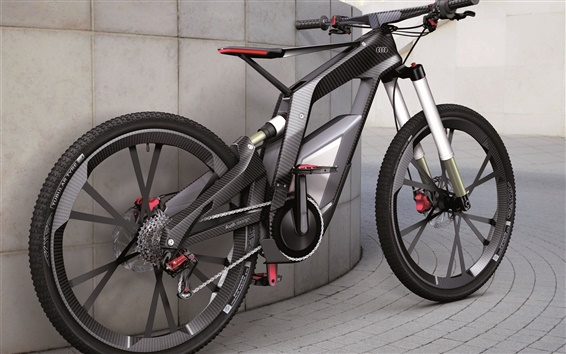 Wallpaper Black Audi bicycle
