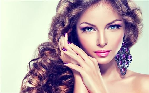 Wallpaper Blue eyes fashion girl