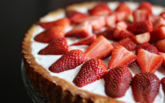 Wallpaper Dessert, cake, strawberries