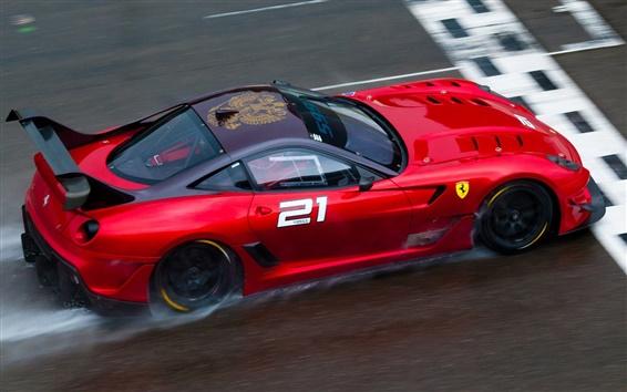 Wallpaper Ferrari 599XX EVO red supercar