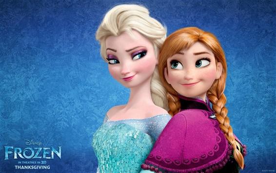 Fondos de pantalla Película Frozen, Disney, Anna, Elsa, hermanas
