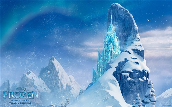 Wallpaper Frozen, beautiful Ice Castle