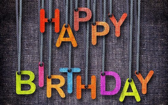 Wallpaper Happy Birthday, jeans, colorful