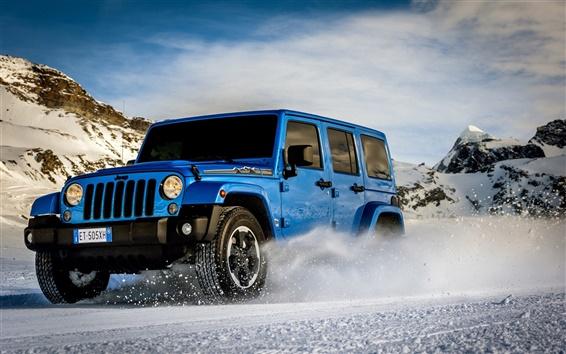 Wallpaper Jeep Wrangler Polar car, mountains, snow