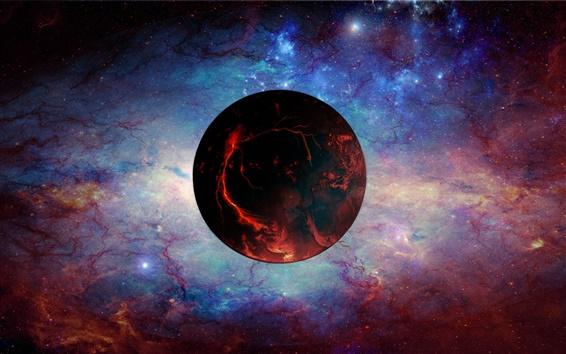 Обои Красная планета, вселенная, космос, туманность