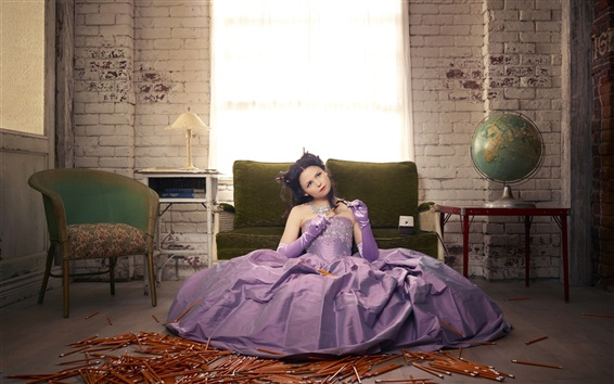 Fond d'écran Blanche-Neige, Mary Margaret, robe pourpre