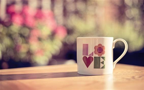 Wallpaper Still life, cup, love