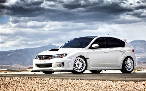 Fondos de pantalla Subaru Impreza STI coche blanco