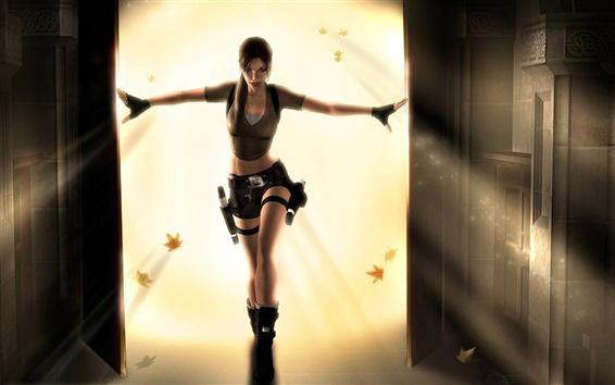 Wallpaper Tomb Raider, Lara Croft beautiful dance