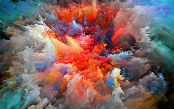Wallpaper Abstract pictures, explosion, brightness, colors