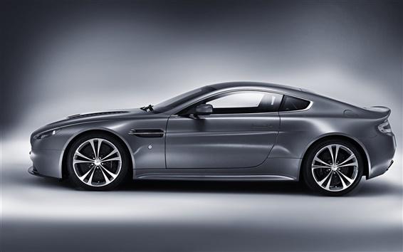 Wallpaper Aston Martin V12 Vantage silver car