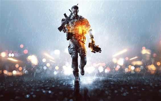 Wallpaper Battlefield 4, soldier walking
