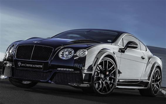 Обои Bentley Continental GT оникс черный суперкар