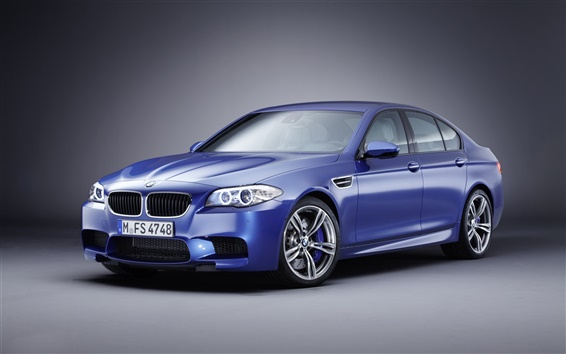 Wallpaper Blue BMW M5 car