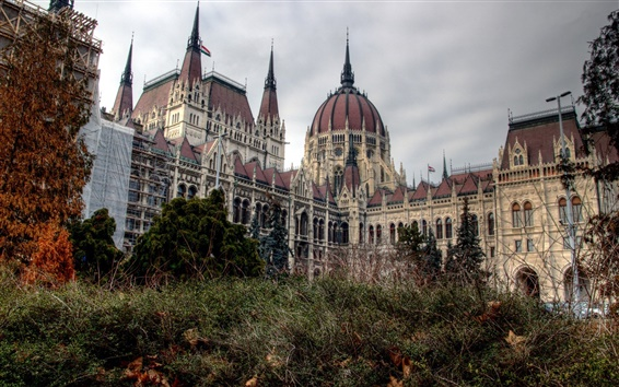 Fond d'écran La ville de Budapest, Hongrie, le parlement, construction