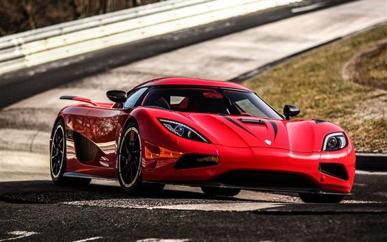 Fondos de pantalla Koenigsegg superdeportivo rojo