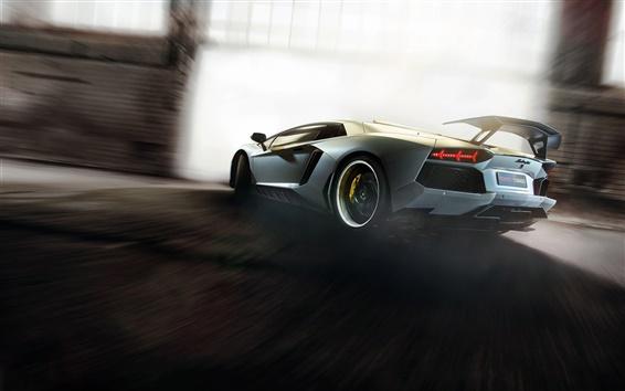 Fond d'écran Lamborghini Aventador supercar grande vitesse