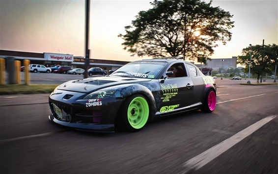 Wallpaper Mazda RX-8 drift, sports car