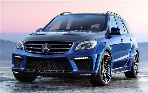 Wallpaper Mercedes-Benz ML63 AMG Inferno blue car