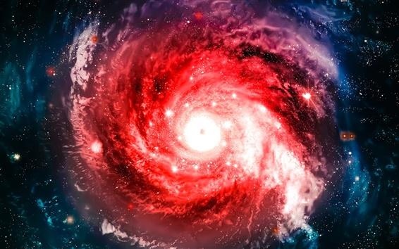 Wallpaper Red nebula, galaxy, universe, sky, stars