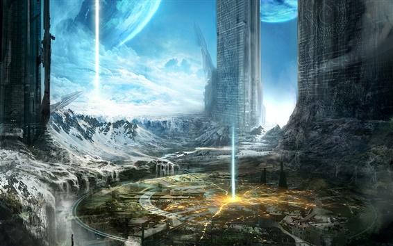 Fondos de pantalla Arte del planeta, edificios, ciudad