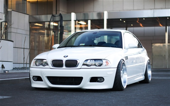 Fondos de pantalla BMW M3 E46 coche blanco