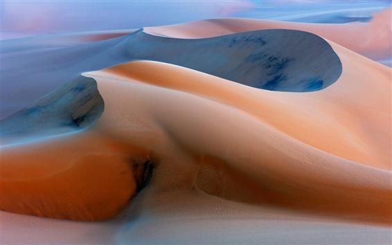Обои До восхода солнца, дюны, песок