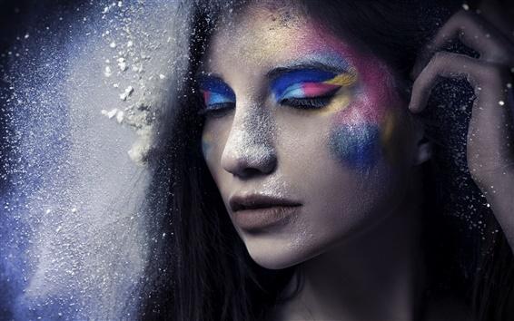 Fond d'écran Fille de mode, maquillage