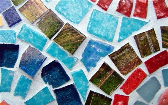 Wallpaper Mosaic, stones, colors, colorful