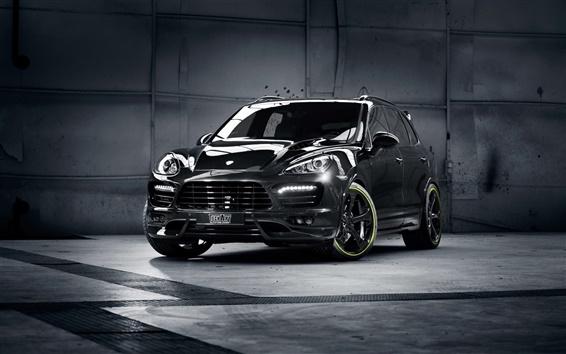 Fond d'écran Porsche Cayenne SUV noir
