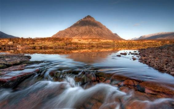 Wallpaper Scotland, mountain, river, stream