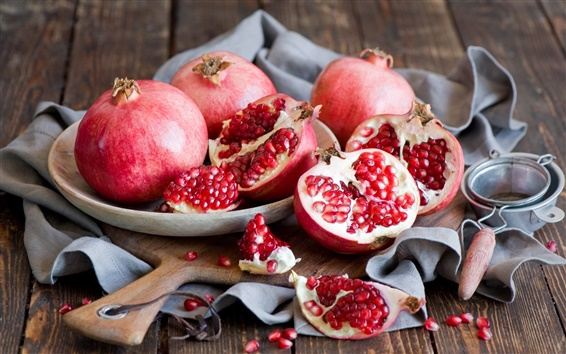 Wallpaper Sweet fruits, red pomegranates