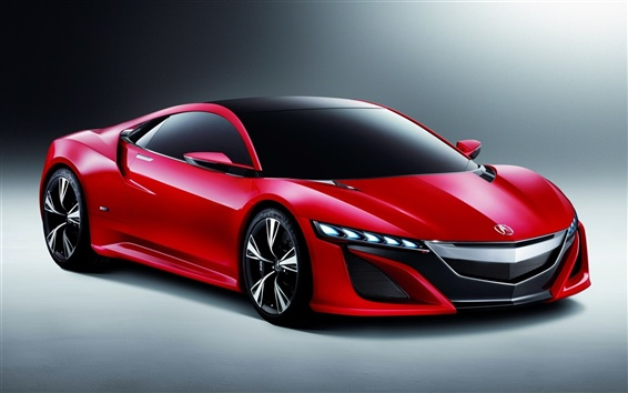 壁紙 アキュラNSXコンセプト赤い車