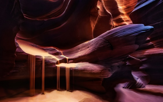 Обои Каньон Антилопы, камни, свет, текстура, песок, красный