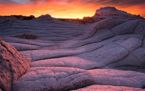 Fond d'écran Arizona, Parc National, Monument, pierres, soirée, coucher de soleil
