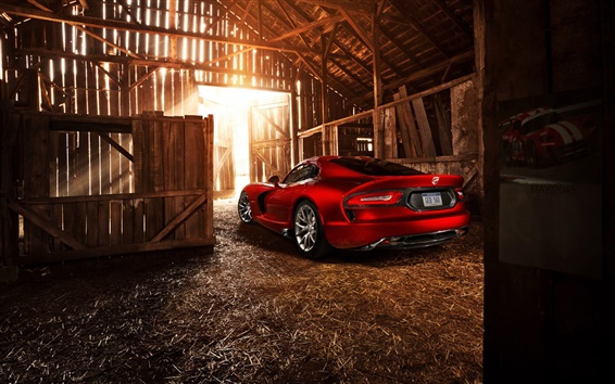 Wallpaper Dodge SRT Viper GTS 2013 red supercar