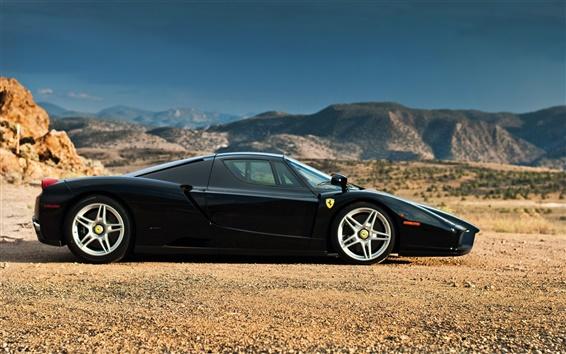 Fond d'écran Ferrari Enzo supercar noir Vue de côté