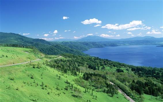 Fondos de pantalla Japón, Hokkaido, paisaje hermoso
