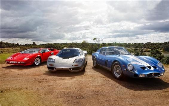 Обои Lamborghini, McLaren, Ferrari, классический суперкар