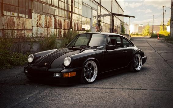 Wallpaper Porsche 911 Carrera black car