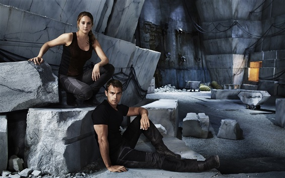 Wallpaper Shailene Woodley, Theo James, Divergent HD