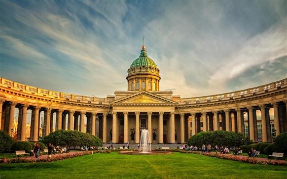 Wallpaper St. Petersburg, Russia, buildings, people