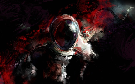 Wallpaper Astronaut, abstract design