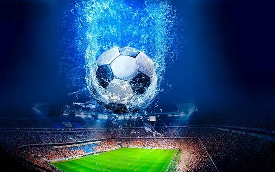 Wallpaper Creative design, football, stadium, water