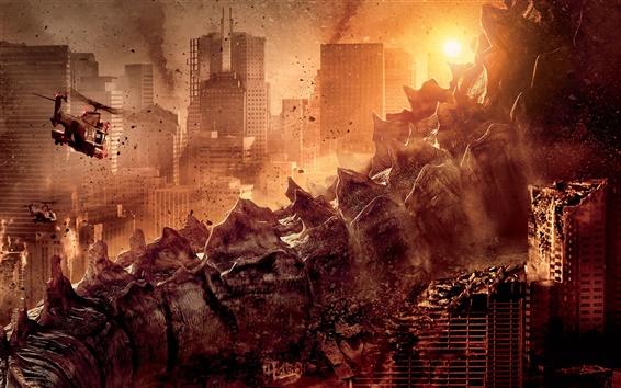 Wallpaper Godzilla movie 2014