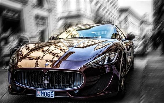 Fondos de pantalla Maserati Vista delantera del coche marrón